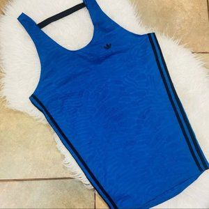 Adidas blue and black textured dress / tunic /top